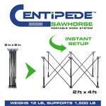 Centipede Foldable compact sawhorse K100/K6