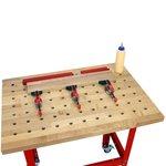 Table Kit - Hard Maple Butcher Block Dog Hole Table (54
