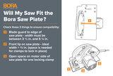 BORA WTX Circular Saw Guide / Plate 2.0 _