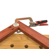 """Table Kit - Hard Maple Butcher Block Dog Hole Table (54""""x25""""x1.5"""") with Steel Stand and 3"""" Leveling Feet Imperial_"""